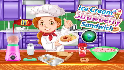 冰淇淋草莓三明治 - 甜点制造商