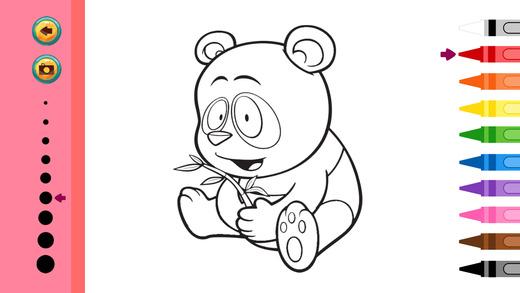 动物图画书 - 教育着色游戏为孩子