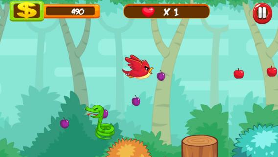 饥饿的鸟类的战役360度射击游戏
