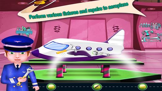 飞机修理和洗涤沙龙 - 飞机清理