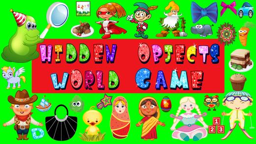 隐藏的对象世界游戏的孩子