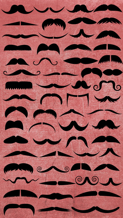 胡须彩色贴纸 - 将胡须加至您的照片,更改它的颜色
