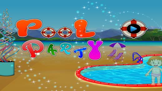 泳池派对 - 疯狂的孩子们游泳和清除游戏时的乐趣