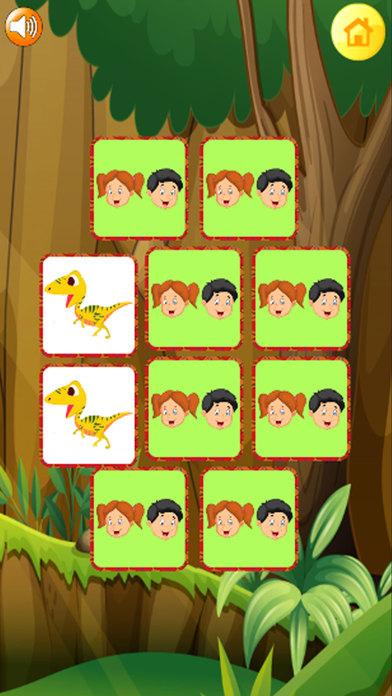 恐龙 匹配 难题 -  视线 游戏 对于 孩子们
