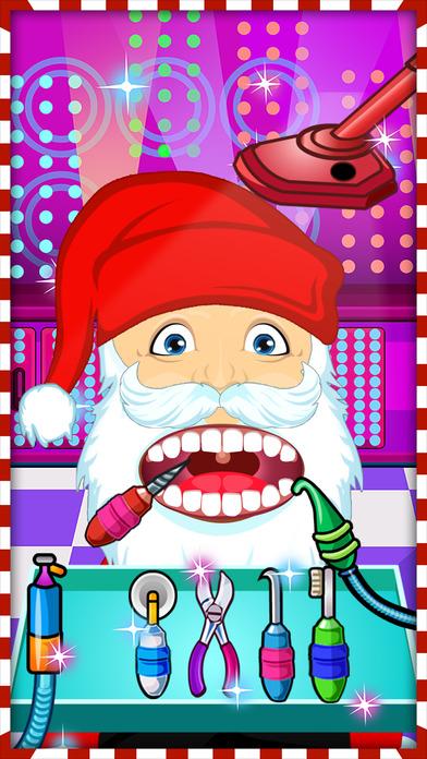 圣诞老人的 圣诞 牙医 游戏 对于 男孩 & 女孩