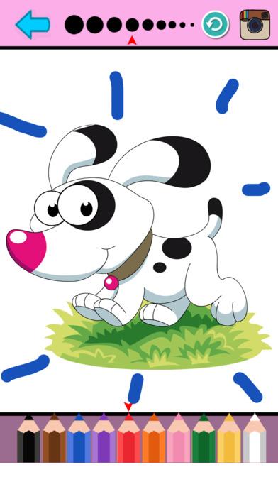 小狗着色页动物绘画绘图