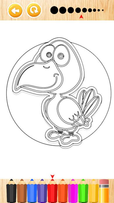 愤怒的小鸟为孩子们的游戏着色书