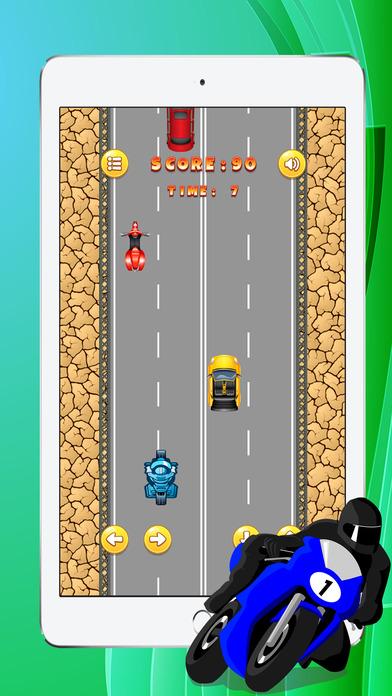 最高速度的自行车赛车游戏的孩子