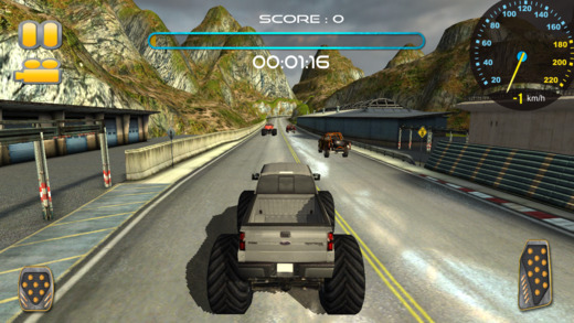 3D怪物卡车速度赛车游戏