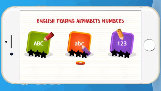 英语ABC字母123跟踪数为孩子