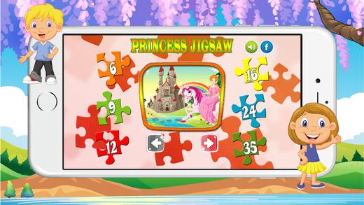 教育学习(公主)拼图为孩子的游戏