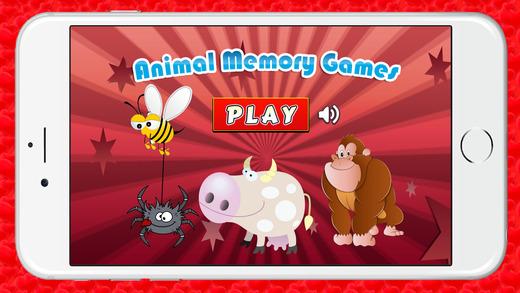 匹配动物记忆游戏的孩子