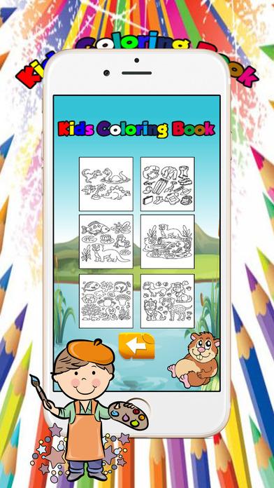 18孩子着色书游戏的幼儿和孩子