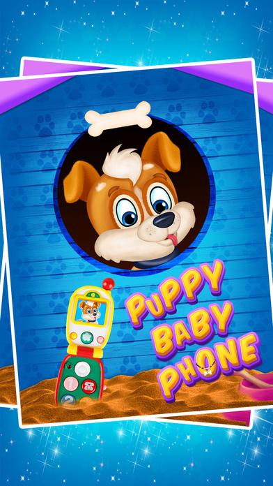 小狗的宠物宝宝电话为孩子们