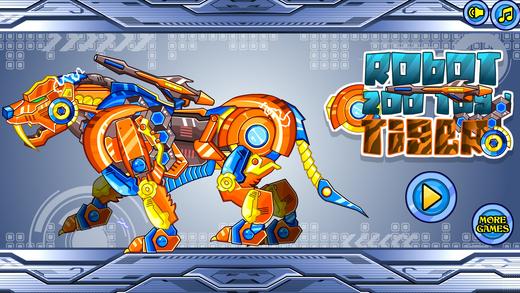 拼装机器老虎:机器动物园系列——拼图游戏
