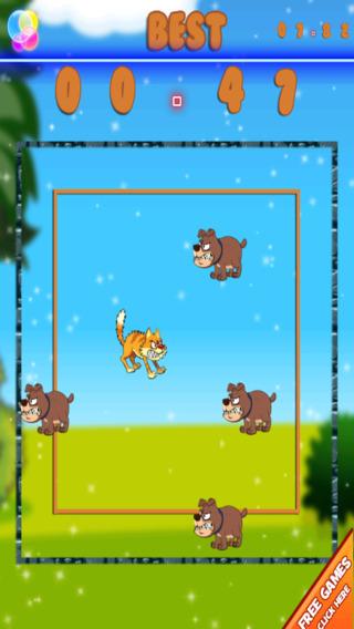 聪明的猫逃生拉什 - 愤怒的哑巴狗运行 免费