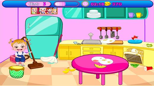宝贝打扫房间