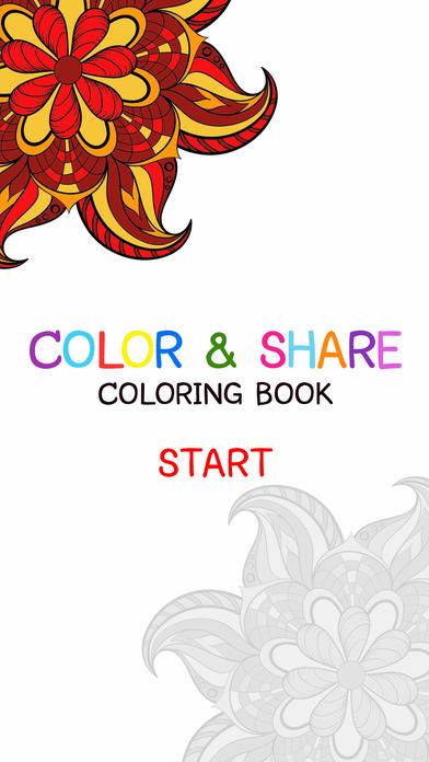 成人着色书-免费曼荼罗色彩疗法 & 应力解除成人 2 页