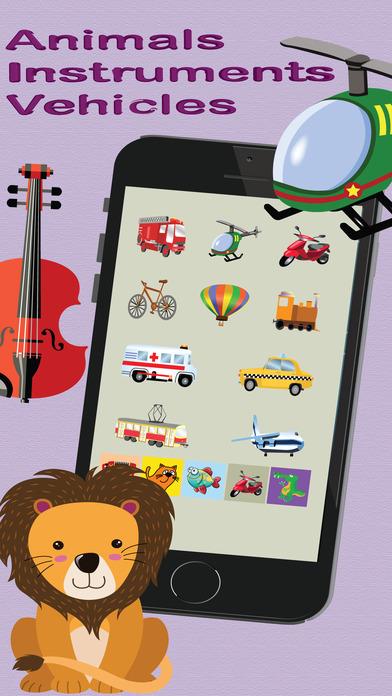 兒童閃存卡:有聲音的圖片