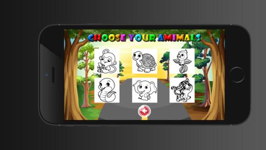 兒童圖畫書動物園 - 教育學習遊戲為孩子和幼兒