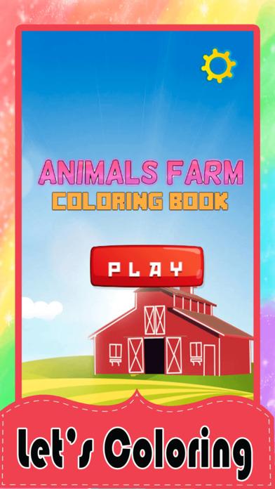 动物农场着色页搞笑动物图片