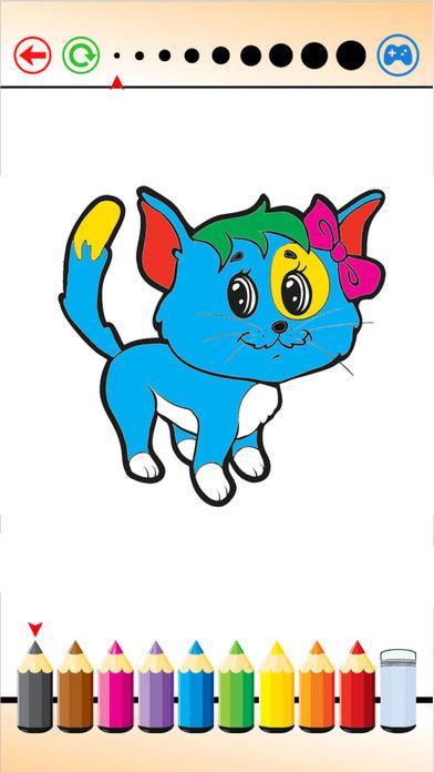 小狗 小貓 填色本 - 繪畫 和 畫畫