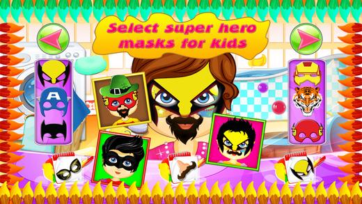 娃娃脸油漆洗 - 孩子们画脸及化妆美发游戏