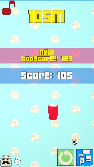免费复古拱廊3D游戏! 扔鸡蛋进红杯子! - Eggie Pong