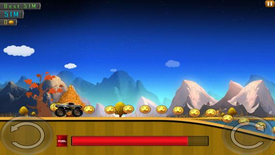 4X4怪物卡车(2D赛车特技游戏)