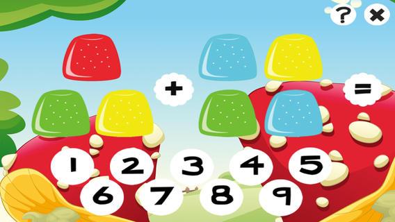 计算糖果和的!找到解决方案的大问题'的生活!免费教育数学学习孩子们的游戏