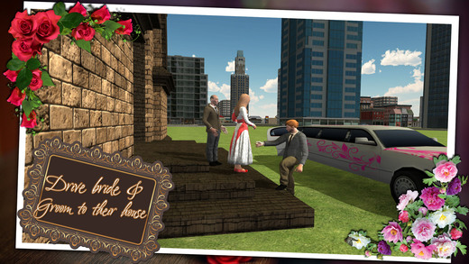 小教堂婚礼的3D停车场 - 豪华轿车模拟器