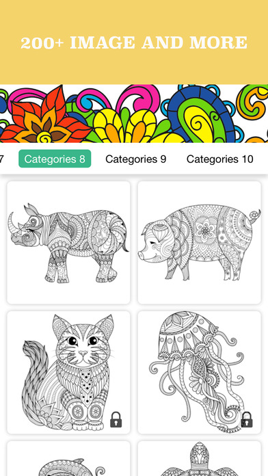 Adult Coloring : 秘密花园 Secret Garden 图画书成人 压力缓解