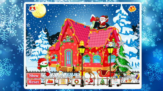 宝贝过新年-装饰漂亮的房子