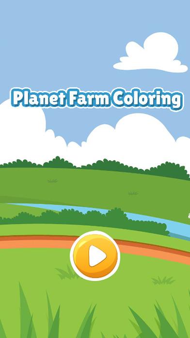 农场图画书为孩子们游戏的星球