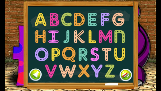 ABC乐趣游戏为孩子学习英文字母表