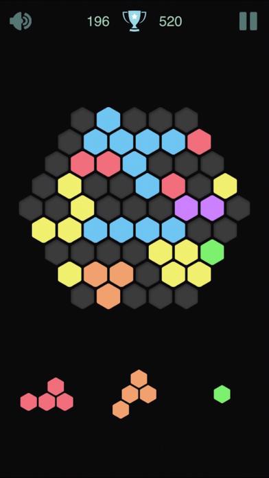 1010六边形彩色方块合成消除!