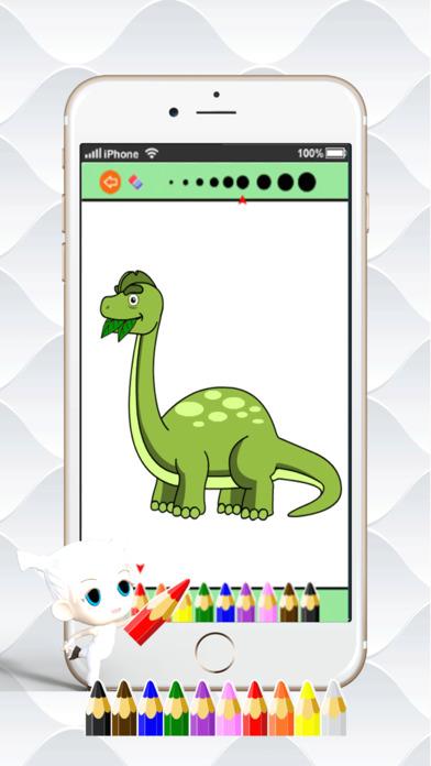 迪诺涂料绘画色彩:可爱的漫画艺术理念页数为孩子