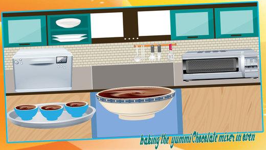熔岩蛋糕制造者 - 在这烘焙烹饪比赛为小孩奶油甜点
