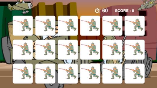 军事战争游戏游戏画面匹配的照片为孩子和幼儿免费