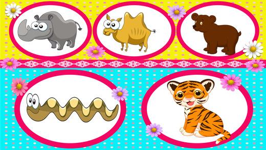 可爱的动物的益智游戏