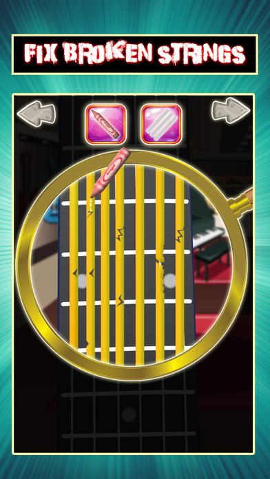 吉他维修店 - 疯狂的乐器修理游戏为孩子们