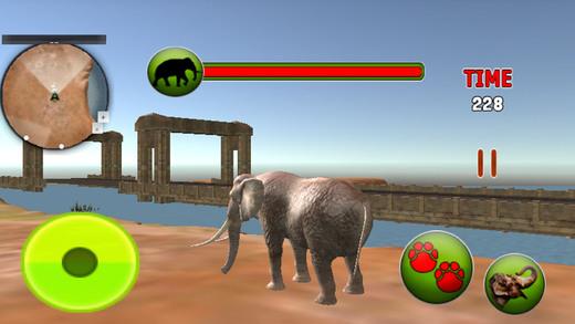 丛林野生大象生活 - 动物游戏
