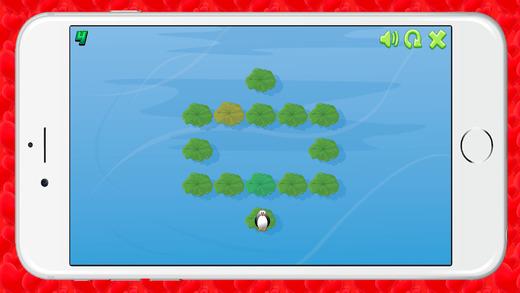 聪明的企鹅跳线冒险游戏的孩子
