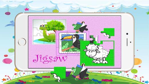 拼图动物 - 惊人的高清拼图为成人和趣味拼图为孩子