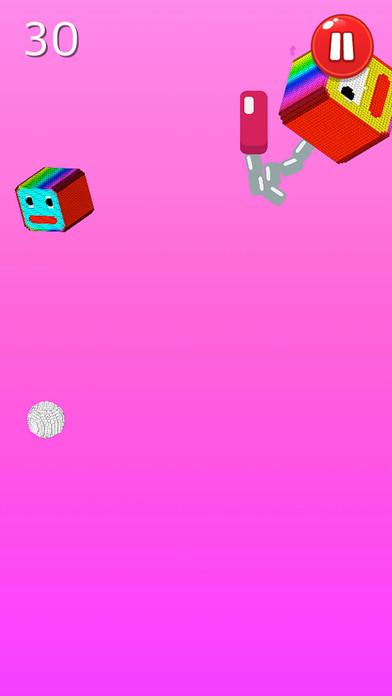 穿越方块流星锤 - 控制跳跃小球躲避疯狂的方块