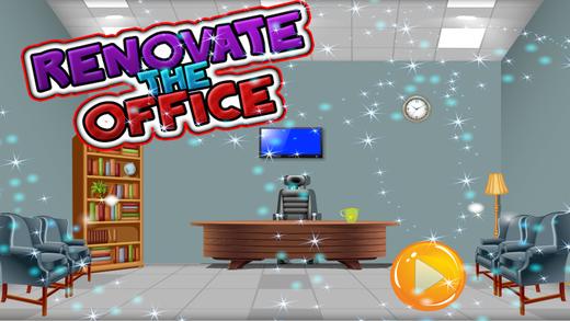 翻新办公室 - 儿童清理和生成器游戏