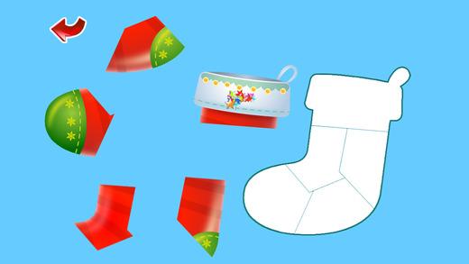 圣诞节拼图游戏