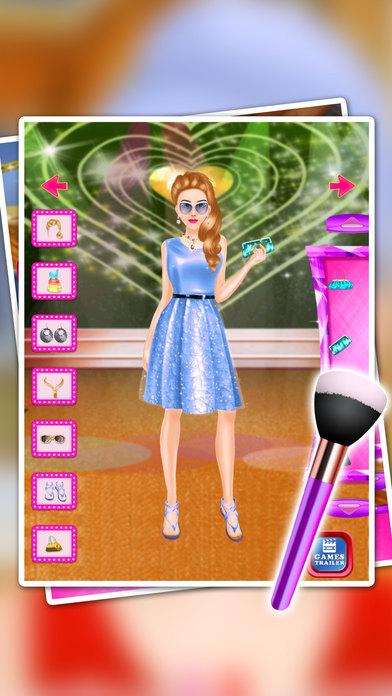 巨星化妆水疗沙龙 - 连衣裙儿童和女孩 - 游戏教程
