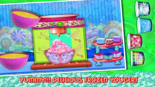 冷冻的酸奶食品制造商 — — 食物游戏