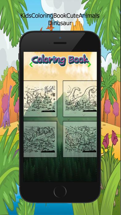 图画书 - 绘画七彩虹为孩子们免费游戏 Dinosaur